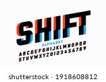 shifted style font design ... | Shutterstock .eps vector #1918608812