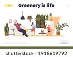 greenery is life concept of... | Shutterstock .eps vector #1918619792