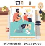 parents sleeping with little...   Shutterstock .eps vector #1918619798