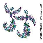 couple of magic fairy birds.... | Shutterstock .eps vector #1918620635