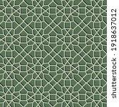 geometric green pattern... | Shutterstock .eps vector #1918637012