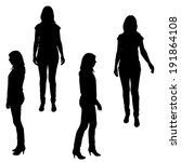 vector silhouette of a woman on ... | Shutterstock .eps vector #191864108