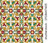 decorative seamless pattern... | Shutterstock .eps vector #1918647605