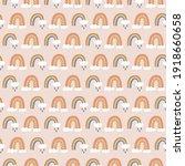 rainbows boho hand drawn...   Shutterstock .eps vector #1918660658