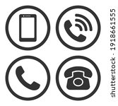 phone icon symbol set....