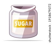 jar of sugar vector isolated... | Shutterstock .eps vector #1918679372