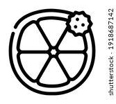 citrus fruit allergy line icon... | Shutterstock .eps vector #1918687142