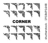 corner decoration collection... | Shutterstock .eps vector #1918691648