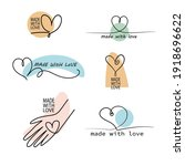 made with love. vector hand...   Shutterstock .eps vector #1918696622