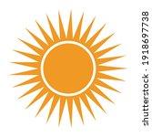 sun icon for graphic design... | Shutterstock .eps vector #1918697738