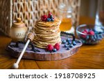 Delicious Pancakes With Honey ...