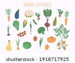 vegetable set in vector. garden ... | Shutterstock .eps vector #1918717925