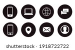 contact icon set. black and...   Shutterstock .eps vector #1918722722