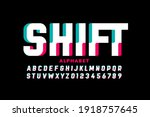 Shifted Style Font Design ...