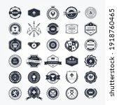 emblems  badges and retro seals ... | Shutterstock .eps vector #1918760465