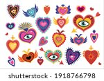Mexican Sacred Hearts Set ...