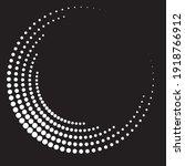 halftone dots in semi circle...   Shutterstock .eps vector #1918766912