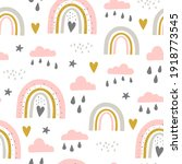 seamless pattern with cloud and ...   Shutterstock .eps vector #1918773545