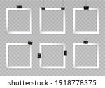set of silver square photo... | Shutterstock .eps vector #1918778375