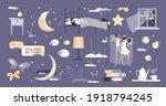 sleep set with bedroom and... | Shutterstock .eps vector #1918794245