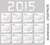 simple 2015 calendar   2015... | Shutterstock .eps vector #191879678
