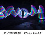 one person standing against...   Shutterstock . vector #1918811165