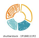 pie diagrams hand drawn icons.... | Shutterstock .eps vector #1918811192