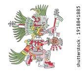 huitzilopochtli  aztec god  as...   Shutterstock .eps vector #1918841885