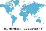 world map color vector modern.... | Shutterstock .eps vector #1918848545
