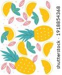 fruits set in flat trendy style ... | Shutterstock .eps vector #1918854368