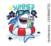 summer pool party.shark... | Shutterstock .eps vector #1918868732