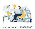 application developing team... | Shutterstock . vector #1918883165
