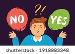 businessman in indecision... | Shutterstock .eps vector #1918883348