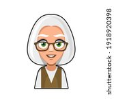 old woman cartoon icon. cute... | Shutterstock .eps vector #1918920398