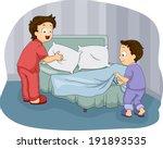 illustration of two little boys ... | Shutterstock .eps vector #191893535