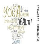 Yoga. Word Collage On White...