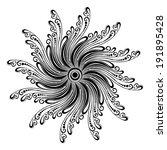 beautiful deco mandala ... | Shutterstock . vector #191895428
