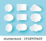 set of communication bubbles in ...   Shutterstock .eps vector #1918959605