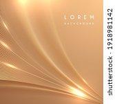 abstract golden lines... | Shutterstock .eps vector #1918981142