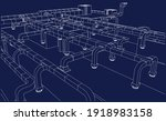 architectural bim air ducts 3d...   Shutterstock .eps vector #1918983158