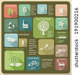 ecology vector flat background
