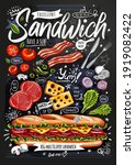 food poster  ad  fast food ...   Shutterstock .eps vector #1919082422