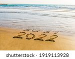 Happy New Year 2022 Text On The ...