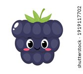 cute happy blackberry character....   Shutterstock .eps vector #1919117702