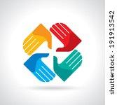 Teamwork Symbol. Multicolored...