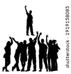 embracing student friends... | Shutterstock .eps vector #1919158085