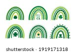 st. patrick s day rainbow. set... | Shutterstock .eps vector #1919171318