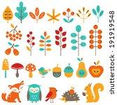 set of autumn design elements. | Shutterstock .eps vector #191919548