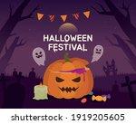 halloween festival on a...   Shutterstock .eps vector #1919205605