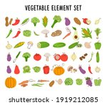 vegetable element set coloring. ... | Shutterstock .eps vector #1919212085